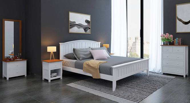 Wichita White Bed (Queen Bed Size, White Finish) by Urban Ladder