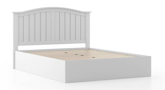 Wichita White Storage Bed (Queen Bed Size, White Finish, Box Storage Type) by Urban Ladder