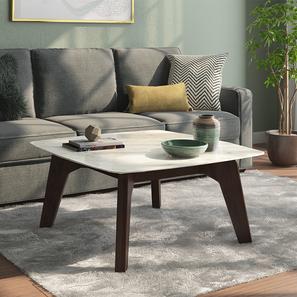Galatea marble square coffee table walnut 44
