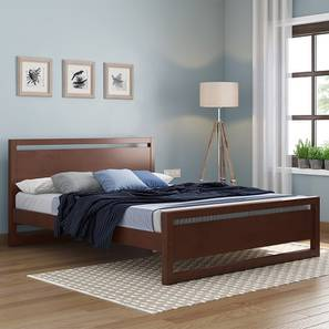 Andros Bed (King Bed Size, Dark Walnut Finish) by Urban Ladder