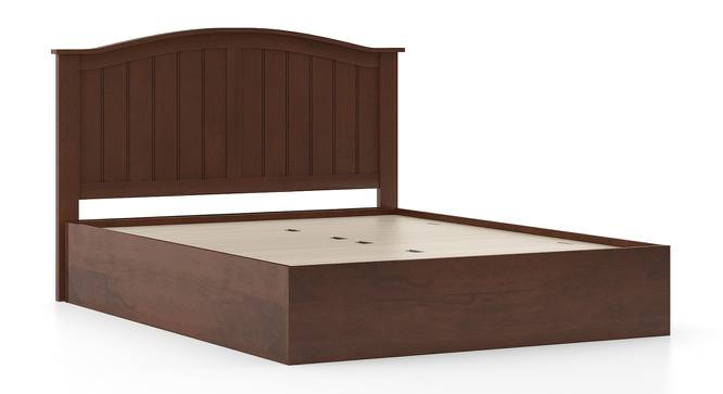 Wichita Storage Bed (King Bed Size, Dark Walnut Finish) by Urban Ladder