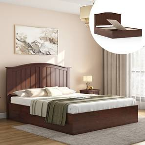 Wichita storage bed walnut lp