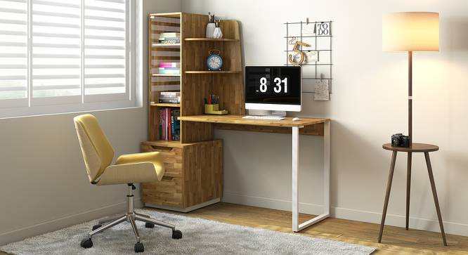 Sidney Study Table (Golden Oak Finish) by Urban Ladder