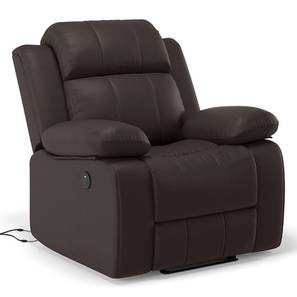 Robert motorised recliner chocolate leatherette lp