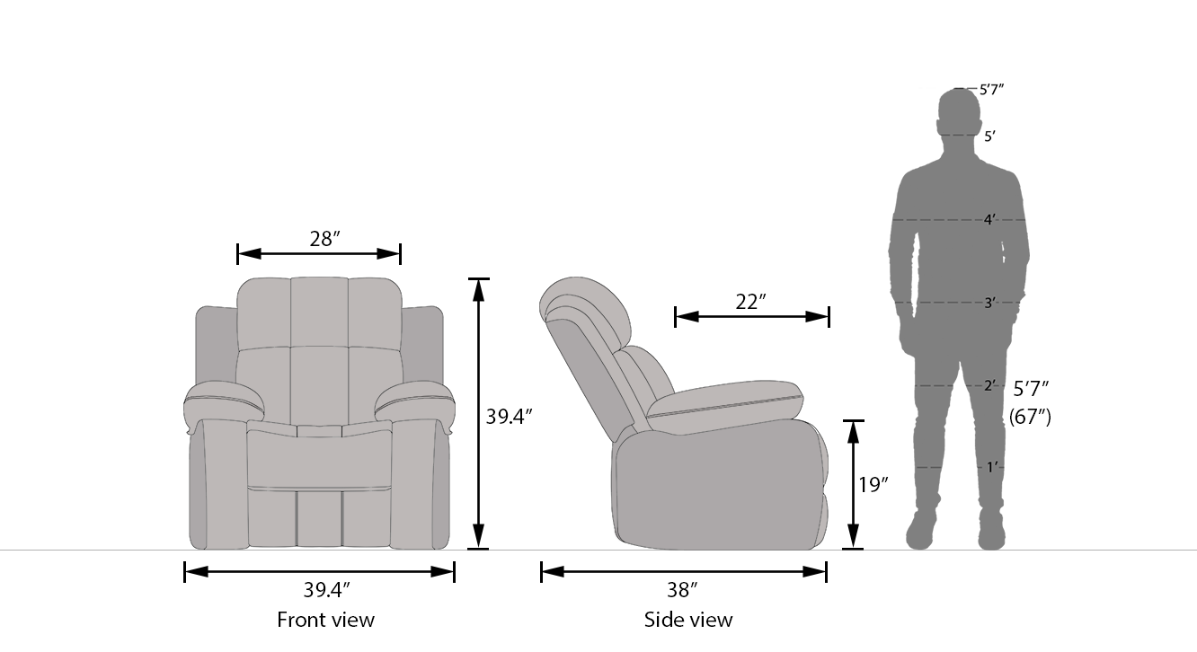 Robert motorised recliner chocolate leatherette 21