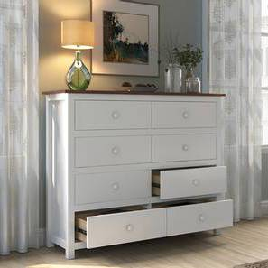 Evelyn Chest Of Eight Drawers (White Finish) by Urban Ladder