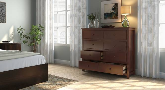 Evelyn Chest Of Eight Drawers (Dark Walnut Finish) by Urban Ladder
