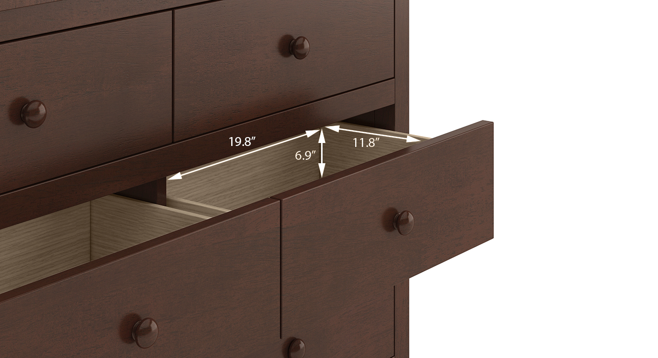 Evelyn chest of drawer walnut 22