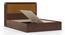 Miyako Storage Bed (Queen Bed Size, Dark Walnut Finish, Box Storage Type) by Urban Ladder