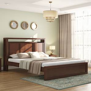 Dixon Bed (Queen Bed Size, Dark Walnut Finish) by Urban Ladder