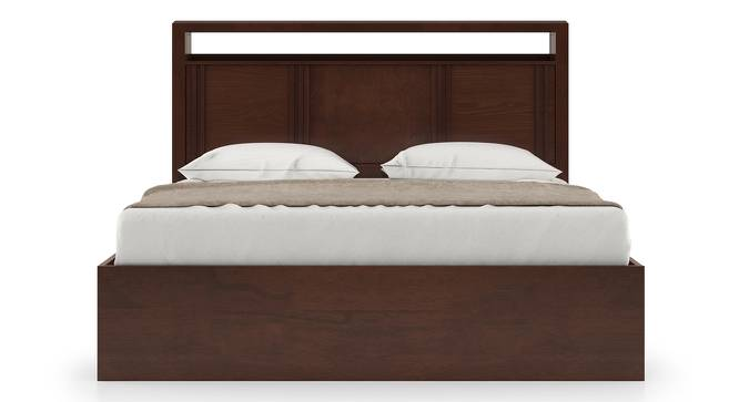 Dixon Storage Bed (Queen Bed Size, Dark Walnut Finish, Box Storage Type) by Urban Ladder
