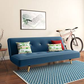 Zehnloch sofa cum bed blue lp