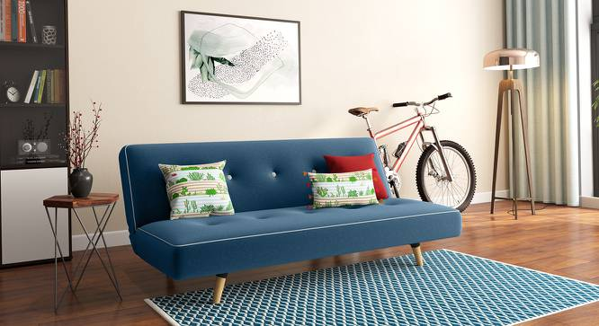 Zehnloch Sofa Cum Bed (Blue) by Urban Ladder