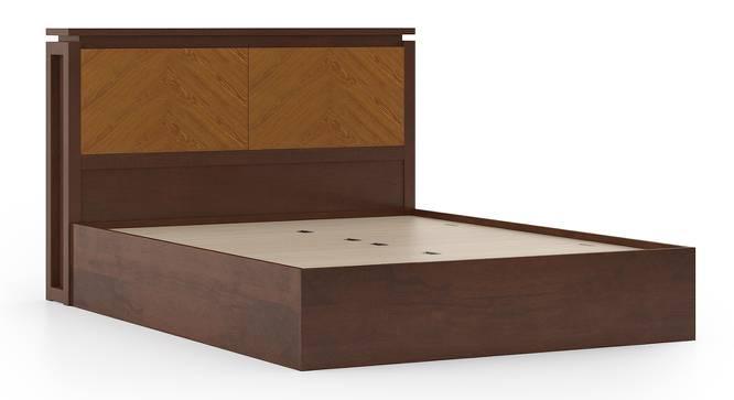 Miyako Storage Bed (Solid Wood) (Queen Bed Size, Dark Walnut Finish, Box Storage Type) by Urban Ladder