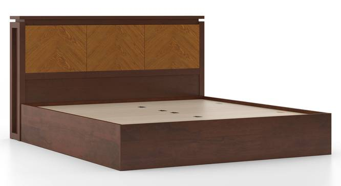 Miyako Storage Bed (Solid Wood) (King Bed Size, Dark Walnut Finish, Box Storage Type) by Urban Ladder