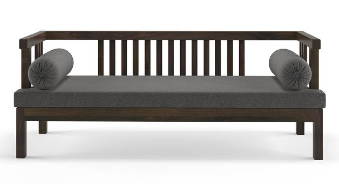 Milton Day Bed (Grey, American Walnut Finish) by Urban Ladder
