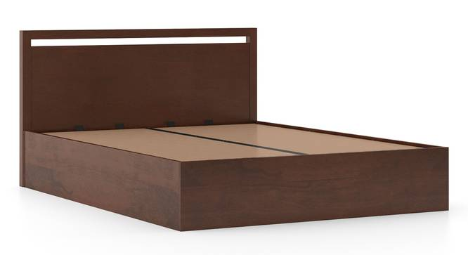 Andros Hydraulic Bed (King Bed Size, Dark Walnut Finish) by Urban Ladder