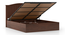 Wichita Hydraulic Bed (Queen Bed Size, Dark Walnut Finish) by Urban Ladder