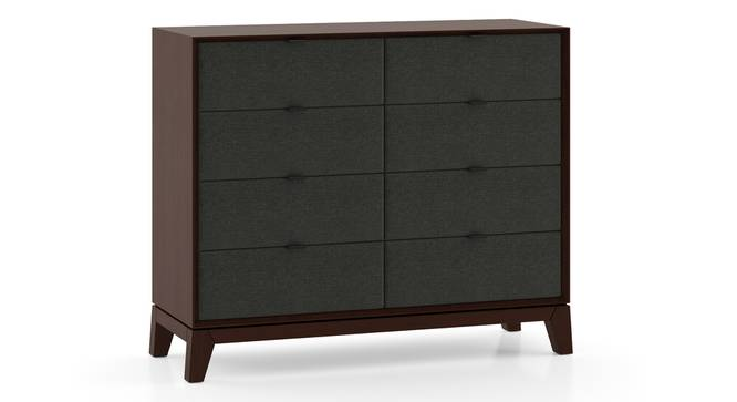 Martino Chest Of Eight Drawers (Dark Walnut Finish, Charcoal Grey) by Urban Ladder