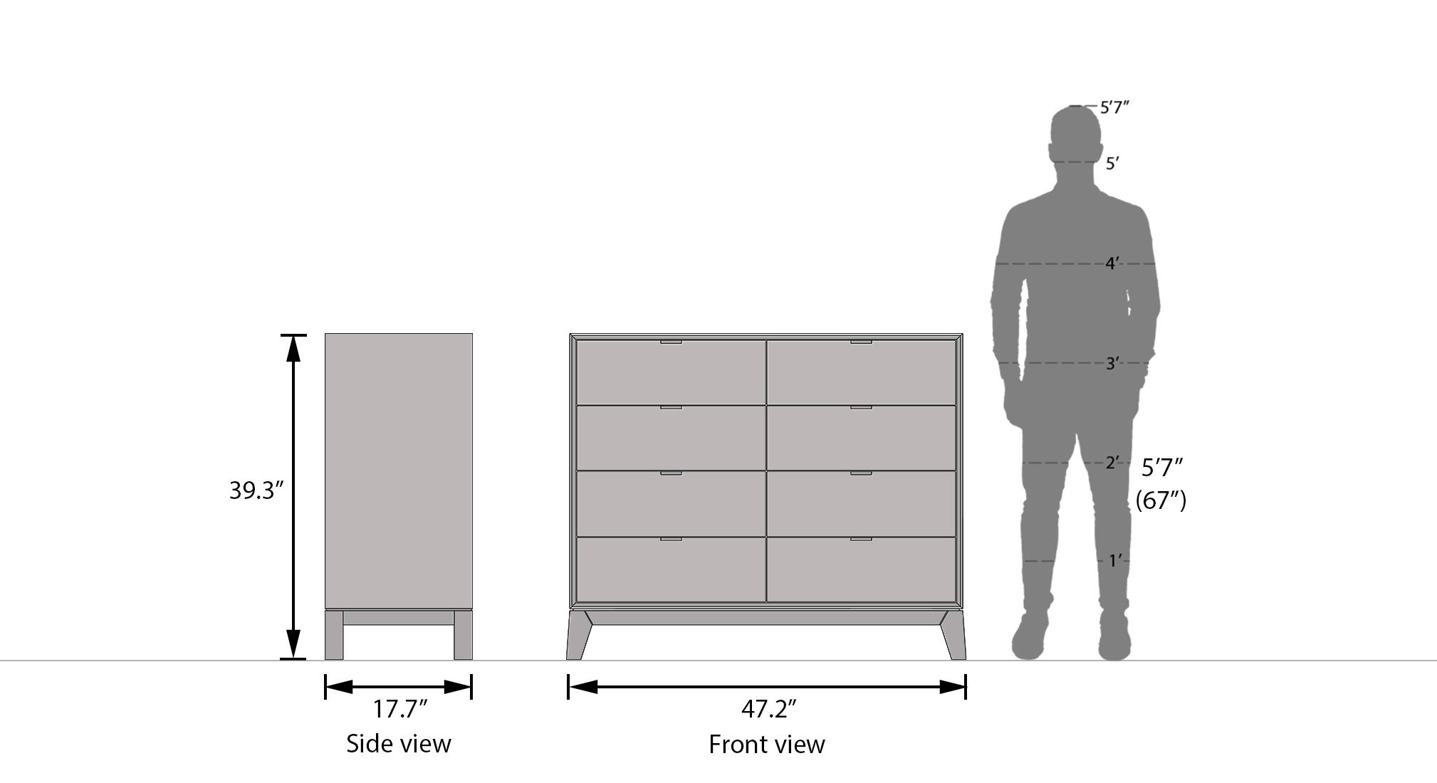 Martino 8 chest of drawers mist 6