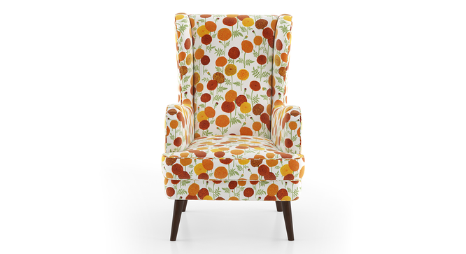 Genoa Wing Chair ( Marigold Inca) by Urban Ladder - Front View Design 1 - 282944