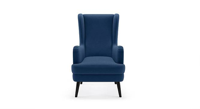 Genoa Wing Chair (Cobalt) by Urban Ladder - Front View Design 1 - 283013