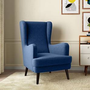 Genoa Wing Chair (Cobalt) by Urban Ladder