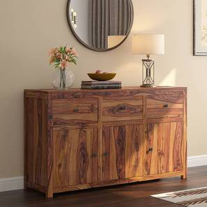 "Striado 57"" Wide Sideboard (Teak Finish) by Urban Ladder"