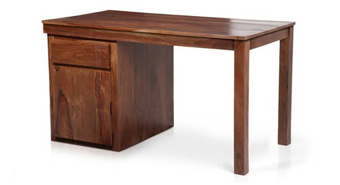 Bradbury Desk (Teak Finish, Large Size) by Urban Ladder - Cross View - 283157