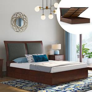 Packard Hydraulic Bed (Queen Bed Size, Dark Walnut Finish) by Urban Ladder