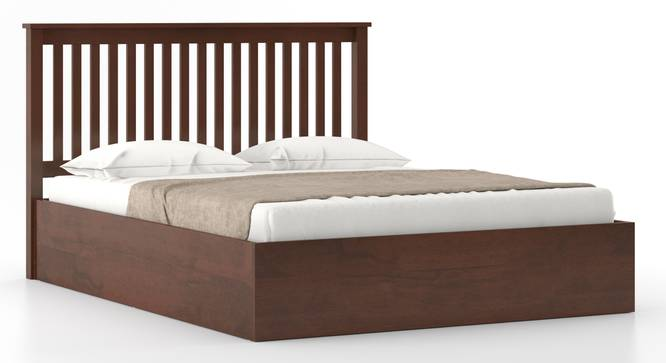 Athens Hydraulic Bed (King Bed Size, Dark Walnut Finish) by Urban Ladder