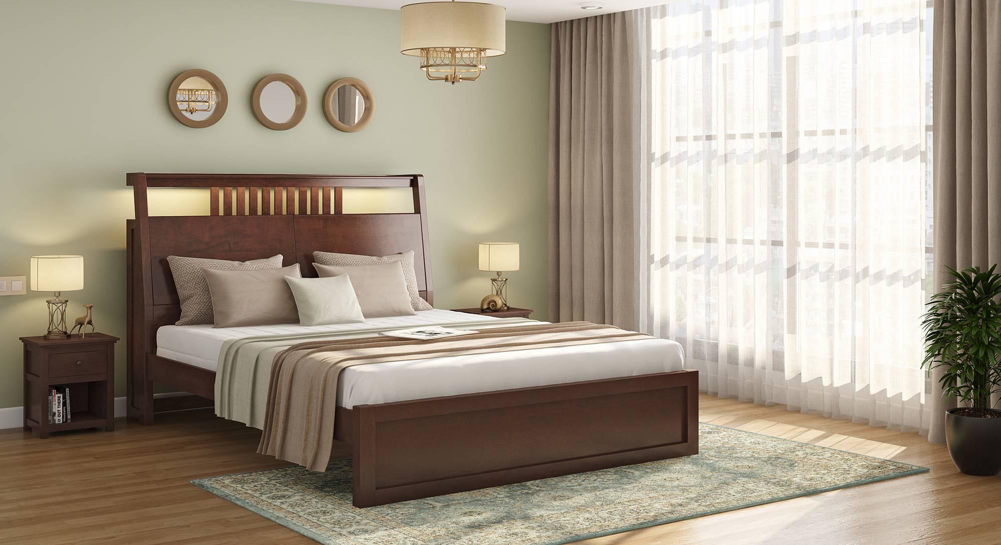 Amelia Smart Bed With Headboard Storage Solid Wood Urban Ladder