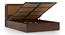 Miyako Hydraulic Bed (King Bed Size, Dark Walnut Finish) by Urban Ladder