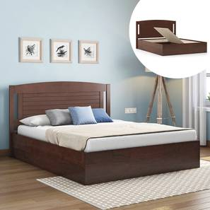 Ellis Storage Bed (Queen Bed Size, Dark Walnut Finish, Box Storage Type) by Urban Ladder