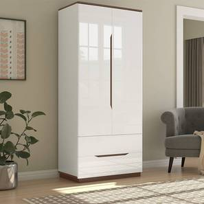 Baltoro High Gloss 2 Door Wardrobe (White Finish) by Urban Ladder