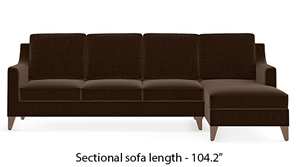 Abbey Sectional Sofa (Dark Earth)