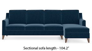 Abbey Sectional Sofa (Cobalt)