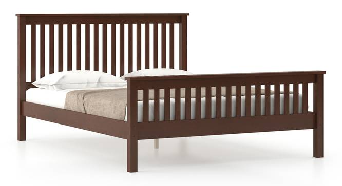 Athens Bed (Solid Wood) (Queen Bed Size, Dark Walnut Finish) by Urban Ladder