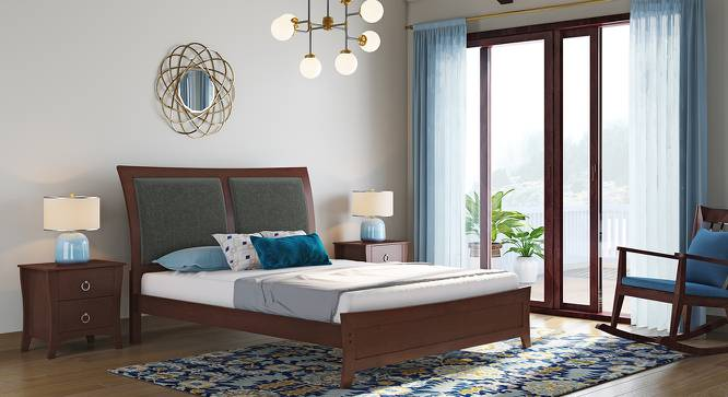 Packard Bed (Solid Wood) (King Bed Size, Dark Walnut Finish) by Urban Ladder