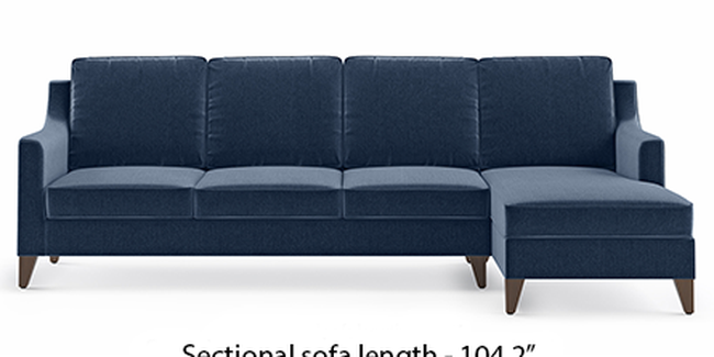 Abbey Sofa (Fabric Sofa Material, Regular Sofa Size, Soft Cushion Type, Sectional Sofa Type, Sectional Master Sofa Component, Lapis Blue)