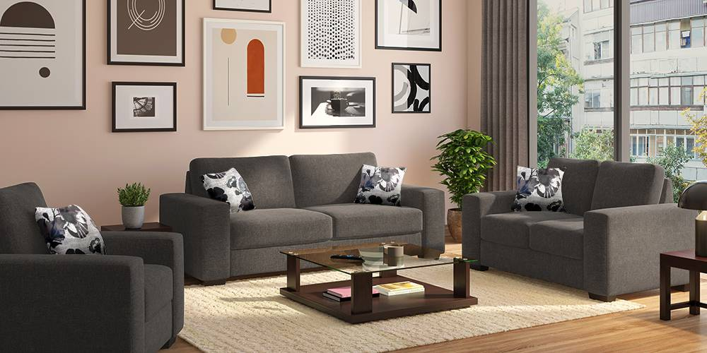 Leslie Sofa (Alloy Grey) by Urban Ladder