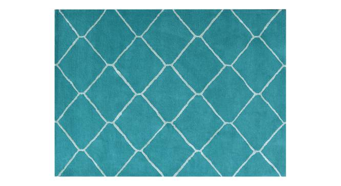 "Virginia Hand Tufted Carpet (60"" x 96"" Carpet Size, Teal) by Urban Ladder"