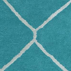 "Virginia Hand Tufted Carpet (36"" x 60"" Carpet Size, Teal) by Urban Ladder"