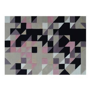 "Mandel Hand Tufted Carpet (36"" x 60"" Carpet Size, Purple & Black) by Urban Ladder"