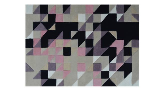 "Mandel Hand Tufted Carpet (48"" x 72"" Carpet Size, Purple & Black) by Urban Ladder"