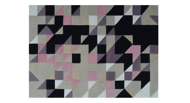 "Mandel Hand Tufted Carpet (48"" x 72"" Carpet Size, Purple & Black) by Urban Ladder"