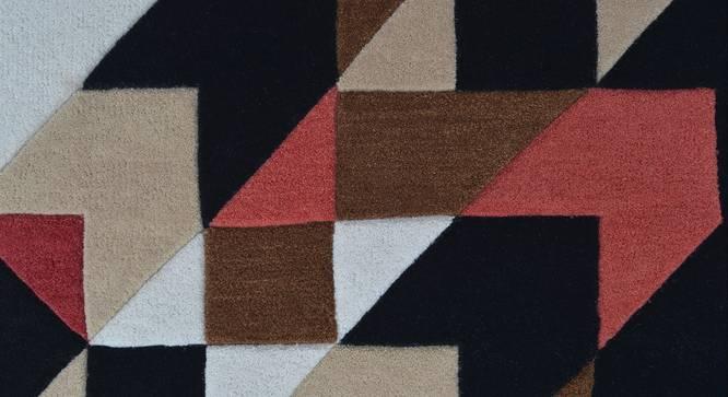 "Mandel Hand Tufted Carpet (36"" x 60"" Carpet Size, Red & Black) by Urban Ladder"