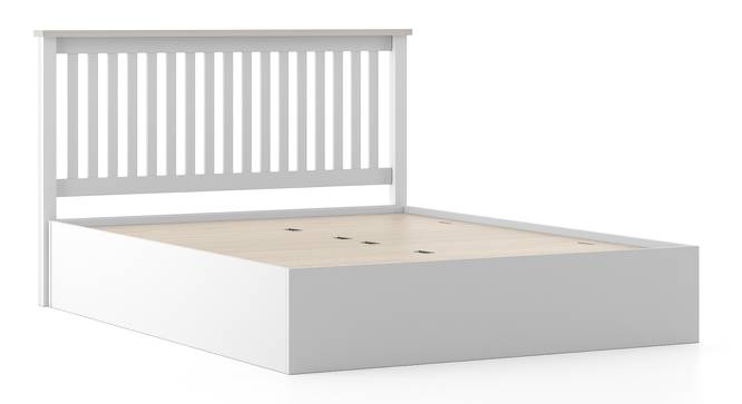 Athens White Storage Bed (Solid Wood) (Queen Bed Size, White Finish, Box Storage Type) by Urban Ladder