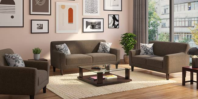 Newport Sofa (Cocoa Brown) (2-seater Custom Set - Sofas, None Standard Set - Sofas, Fabric Sofa Material, Regular Sofa Size, Regular Sofa Type, Cocoa Brown)
