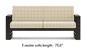 Parsons Wooden Sofa - American Walnut Finish (Sandy Brown)